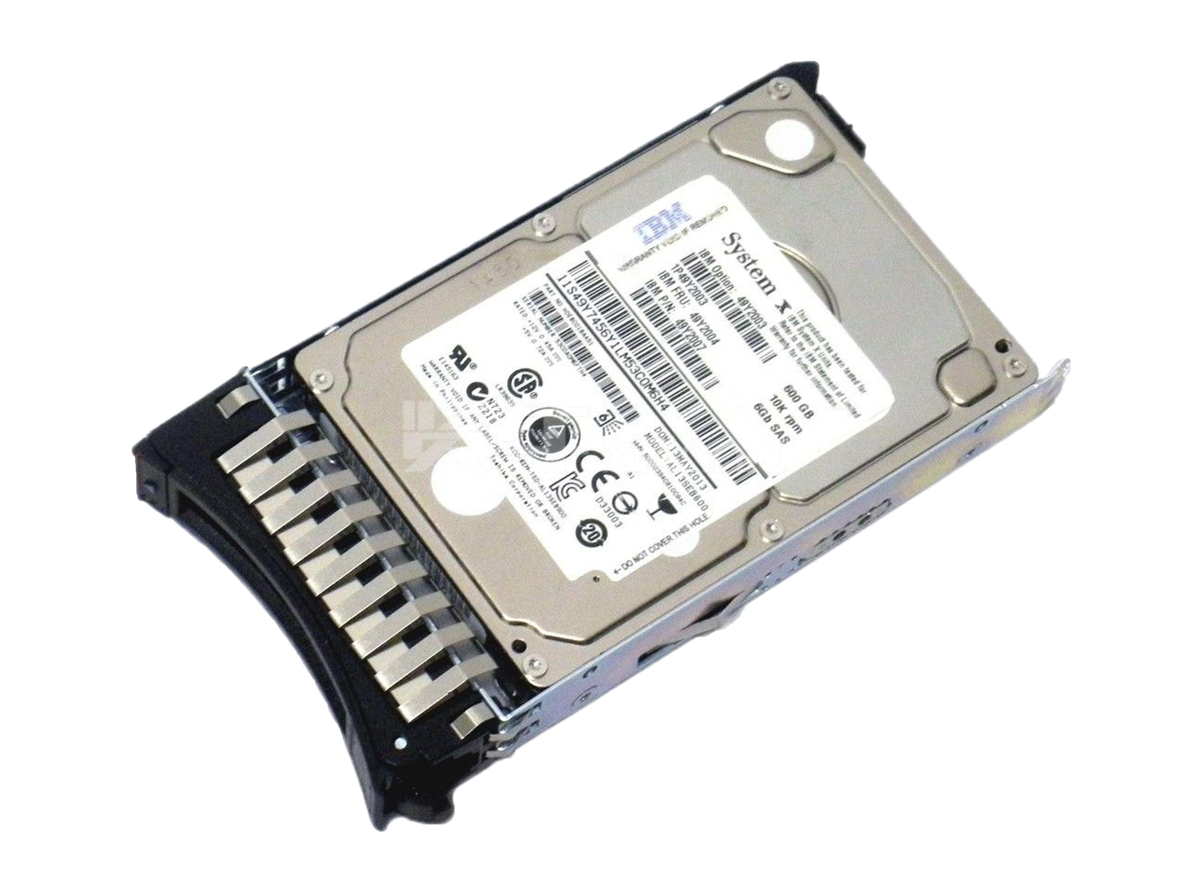 IBM 600G 2.5 SAS服务器硬盘X3650M3 M4 49Y2003
